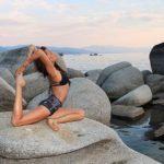 king pigeon yoga pose lake tahoe